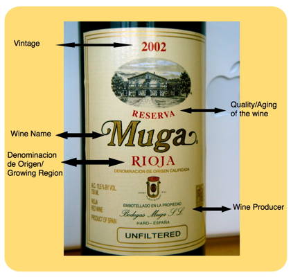 Spanish Wine Label Muga